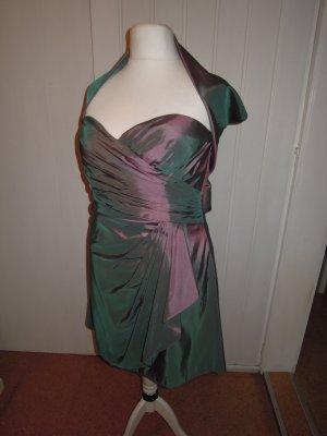Cocktailkleid Abendkleid Kleid Taftkleid Taft Stola NEU rouge rosa flieder 46 48