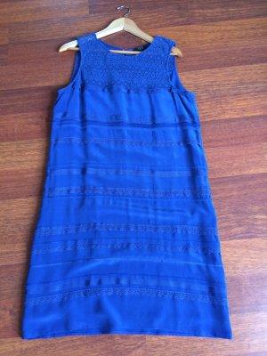 Cocktailkleid/ Abendkleid mit passenden Bolero in blau Gr:40 von Un Deux Trois
