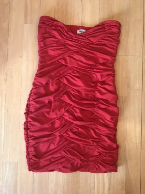 b.p.c. Bonprix Collection Vestido de cóctel rojo oscuro-rojo