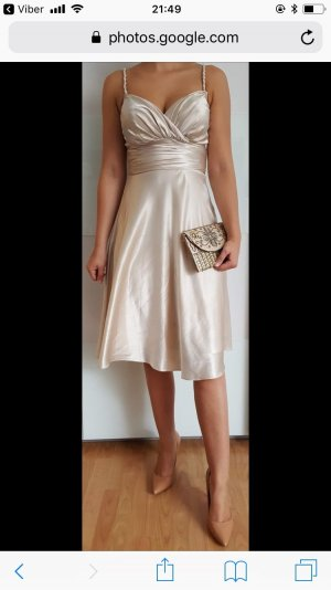 Cocktailkleid beige/Gold