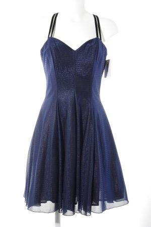Cocktailkleid blau-schwarz Elegant