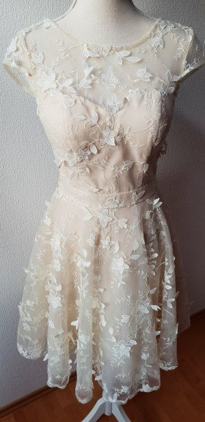 Chi Chi London Lace Dress cream nylon