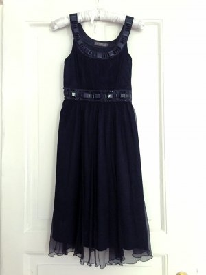Cocktailkleid Chiffon Empirekleid schwarz Fever London - S