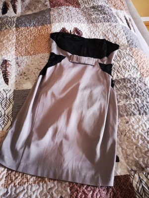 Orsay Off the shoulder jurk zwart-grijs