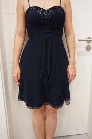 Cocktailkleid dunkelblau, Größe 34, Vera Mont
