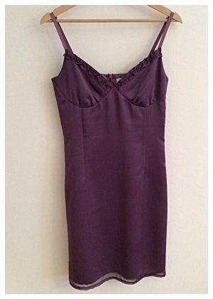 Chaloc Evening Dress blue violet polyester