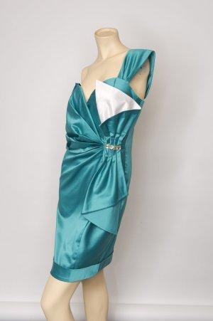 Cocktailkleid / festliches Kleid - mineral green/creme, GR 36-38