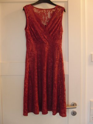 Anna Field Lace Dress red polyester