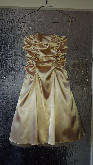 Cocktailkleid gold 34