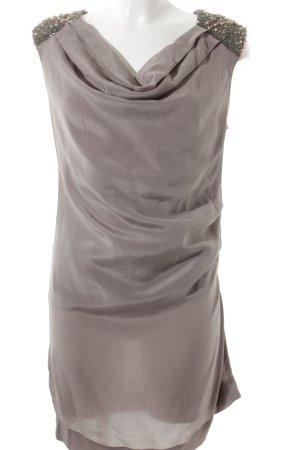 Robe de cocktail gris brun style mouillé