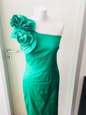 Cocktailkleid Grün Blumen