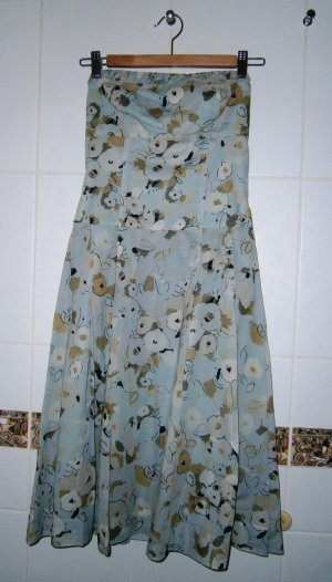 Cocktailkleid, Hellblau geblümtes Kleid, Marke Express (aus den USA), Größe 34