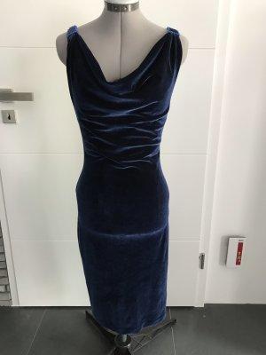 Cocktailkleid in navyblau  Farbe  aus Velurelasthan