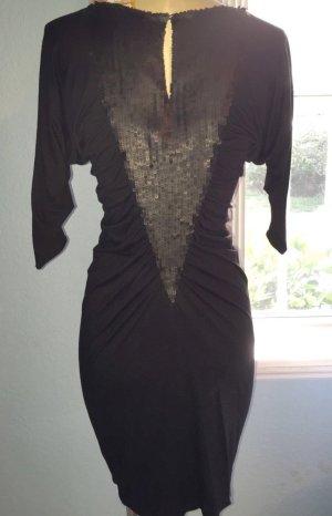 Cocktailkleid Kleid | Catherine Malandrino Schwarz Abendkleid 38 40
