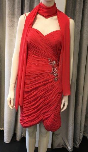 Cocktailkleid Kleid Gr 36 mit Tuch