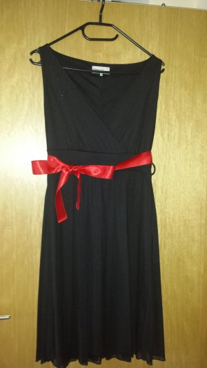 Cocktailkleid Kleid mit Schleife schwarz