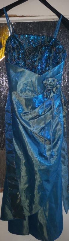 Cocktailkleid Maxikleid blau Gr 38 Neu mit Etikett