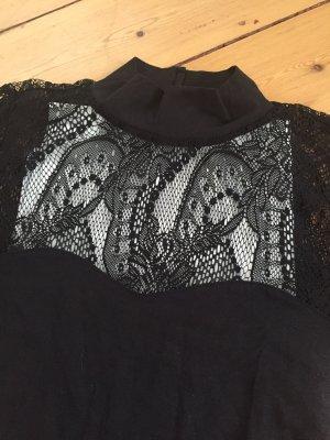 Cocktailkleid mit auffälliger schwarzer Spitze