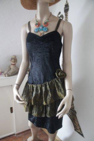 Cocktailkleid mit Bolero * Corsagenkleid * Rüschen * Samt * einmal getragen *