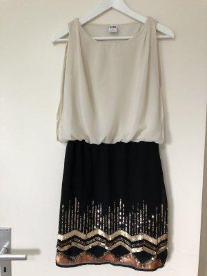 Vero Moda Sequin Dress cream-black