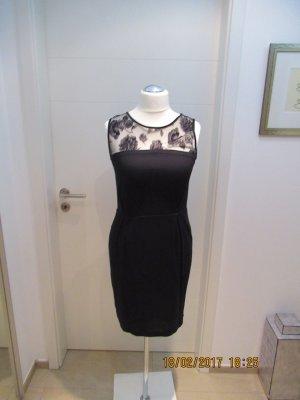 Zara Robe de soirée noir tissu mixte