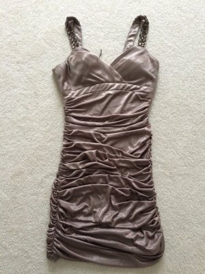Apart Dress gold-colored-grey brown