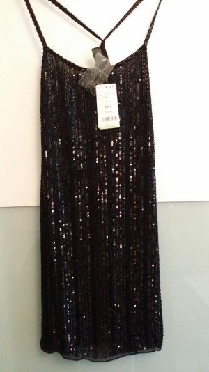 Cocktailkleid/ Pailletten - Minikleid in schwarz von Mango Suits