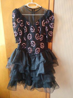 Vera Mont Abito con paillettes nero-rosa chiaro