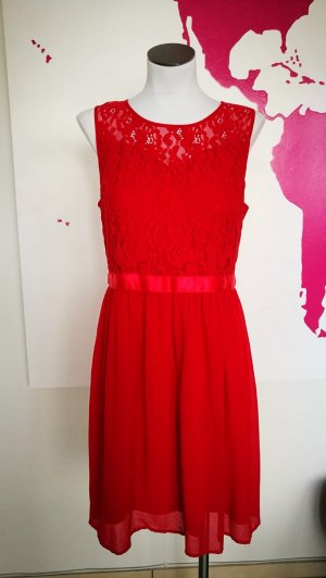 Manguun Lace Dress red