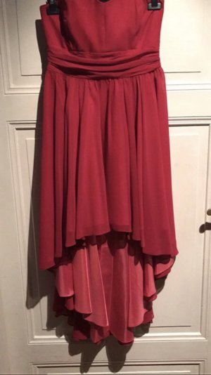 Swing High Low Dress raspberry-red polyester