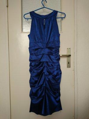 Cocktailkleid, royalblau, glänzend, Größe 40