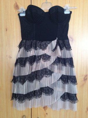 H&M Robe noir-vieux rose
