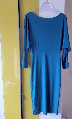 Cocktailkleid von ASOS mit Rückenausschnitt in Blau