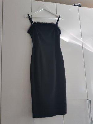 Cockteilkleid Silvesterkleid  Kleid Abendkleid Fell schwarz Adam pour Eve