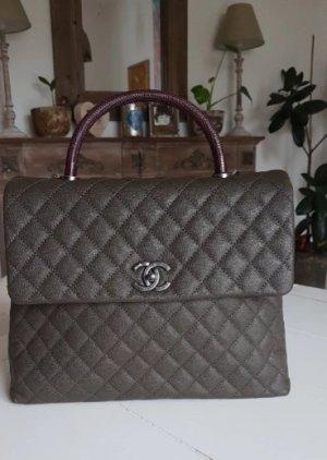 Chanel Bolso gris oscuro-gris verdoso