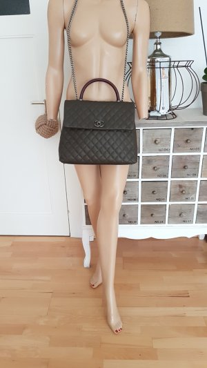 Coco Chanel Business Affinity Handle Caviar/Echse Bag