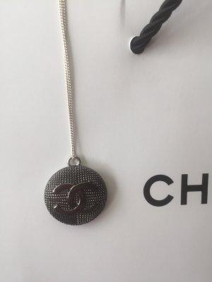 Chanel Collier argenté-gris