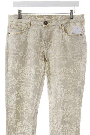 coco Slim Jeans Ornamentenmuster extravaganter Stil