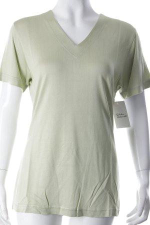 Cocon T-Shirt blassgrün schlichter Stil