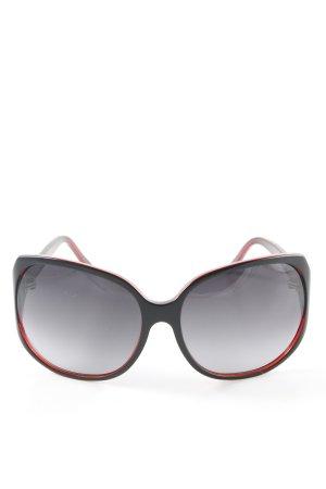 Coconuda eckige Sonnenbrille schwarz-dunkelrot Street-Fashion-Look