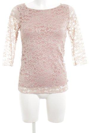 Coconuda Lace Top pink casual look