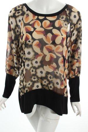 Coconuda Transparenz-Bluse florales Muster Boho-Look