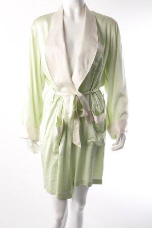 Cocoon Morgenmantel grün-cremeweiß
