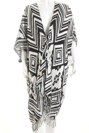 Codello Cardigan weiß-schwarz abstraktes Muster Hippie-Look