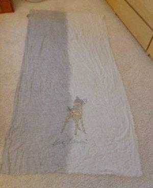 Codello Sciarpa estiva bianco-grigio chiaro Cotone