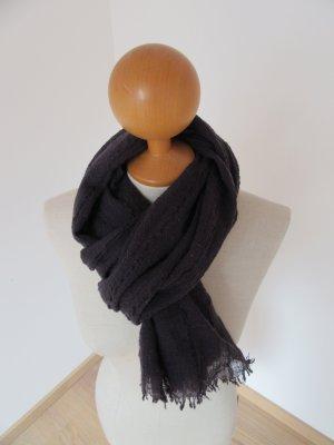 Codello Bufanda de lana violeta oscuro lana de esquila