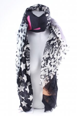 Codello Fringed Scarf animal pattern casual look