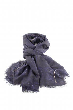Codello Sjaal met franjes blauw quilten patroon casual uitstraling