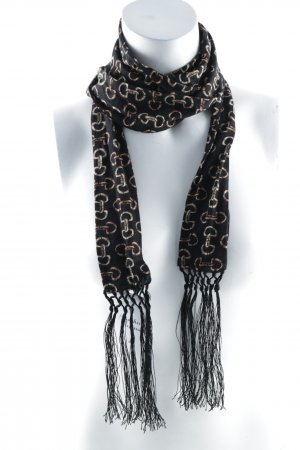 Codello Fringed Scarf dark brown-light brown abstract pattern casual look