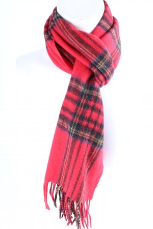 Codello Fringed Scarf red-black check pattern Brit look